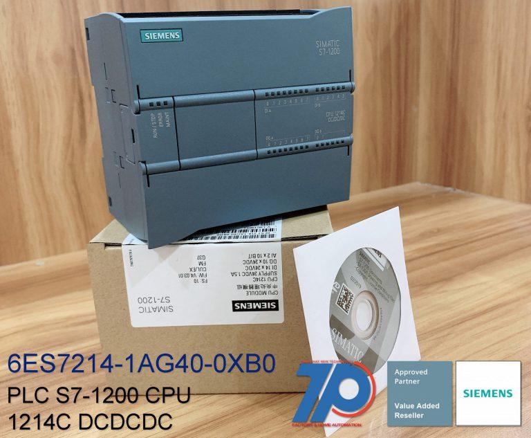 PLC SIEMENS - 6ES7214-1AG40-0XB0 - CPU 1214C DC/DC/DC