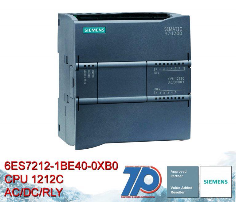 6ES7212-1BE40-0XB0 – CPU 1212C, AC/DC/Relay, 8DI/6DO/2AI