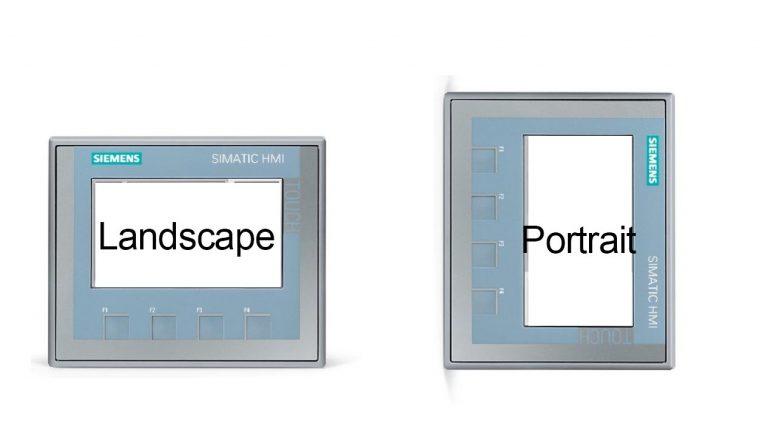 Chế độ dọc màn hình HMI